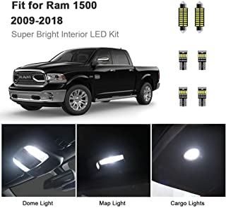 AWALITE 7pcs RAM 1500 Interior LED Lights Kit Super Bright LED Map Dome Light Bulbs for 2009-2018 Dodge Ram 1500 Pickup Truck All Models