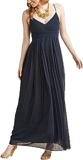 QUZI DRESS Women's Long Chiffon Formal Party Dresses Straps Bridesmaid Dresses QZ022
