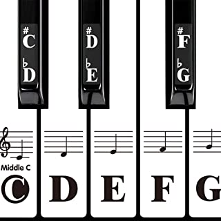 DRMFSLS Kids Piano Keyboard Stickers for 88/61/54/49/37 Key.