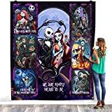 Jack Skellington and Sally Nightmare Before Christmas We are Simply Meant to Be Valentine's Day Quilt – Warm Bed Throws – Decorating Bedrooms Home Fleece Blanket – Premium Sherpa Blanket