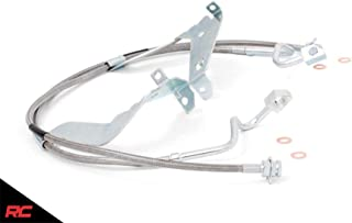 Rough Country Front Extended Stainless Steel Brake Lines (fits) 2008-2015 Super Duty F250 F350 4WD w/ 4-6