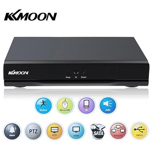 KKmoon 4CH DVR HDMI H.264 CCTV Enregistreur Vidéo Numérique Digital Video Recorder Système de Sécurité Détection de Mouvement P2P Souveiller par Ordinateur ou Smartphone