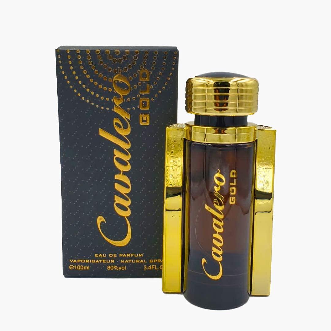 DUMONT CAVALERO GOLD (100ml) Eau De Parfum – Unisex Perfume Body Spray for Women, Men, Boys, Girls, Her, Him -Long Lasting Cologne with Tropical, Fruits, Peach, Jasmine, Rose, Sadalwood, Vanilla Scent
