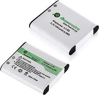 Powerextra 2 x Batteries Compatible with Olympus LI-50B,Pentax D-LI92, Ricoh Pentax Optio I-10 RZ10 RZ18 WG-1, WG-2, WG-2GPS, WG-3, WG-3GPS, WG-4, WG-4GPS, WG-5GP, SWG-10, SWG-20, WG-30, WG-30W, X70
