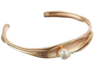 Rebecca Minkoff Organic Metal and Pearl Cuff Bracelet (Gold) Bracelet