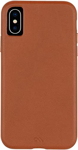high quality Case-Mate - iPhone XS Case - BARELY THERE LEATHER - online outlet sale iPhone 5.8 - Butterscotch Leather online