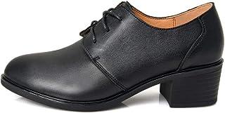 [THLD] 革靴 ミドルヒール パンプス バロックシューズ マーチンシューズ エンジニアブーツ おじ靴 レディース スクエアトゥ レザー カジュアル 皮靴 ブラック 通学 靴 ブラック