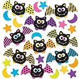 Baker Ross Pegatinas de espuma de murciélago (paquete de 120) para manualidades y proyectos de arte para niños, tarjetas, bolsos de fiesta y decoraciones