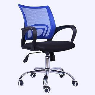 Wyujie Silla De Oficina con Respaldo Giratorio Y Sillas De Escritorio con Respaldo para El Dormitorio Silla con Respaldo Lumbar Sillas De Escritorio para La Oficina En Casa,Azul