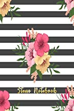 Steno Notebook: Pitman Shorthand Book Steno Notebook For Steno Writing Journal Flower Theme (Gregg Ruled Notebook Journal)
