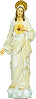 Turtle King Alabastro Religious Home Decor Catholic Saints Series 16 Inch Tall Figurine - SACRED HEART OF IMMACULATE MARY (D18193)