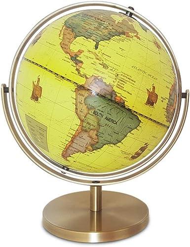 SHRCASE Globe éducatif pivotant Globe terrestre planète Ball rougeation de Table Globe de Table 25 Cm EnseigneHommest Décoration Antique Décoratif Bureau éducatif et Amusant pour Les écoliers
