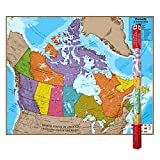 Round World Products RWPHM06 Hemispheres Laminated Map, Canada, 47' Height, 38' Width