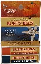 Burts Bees Limited Edition Combo Pack Pumpking Spice & Vanilla Bean Lip Balm
