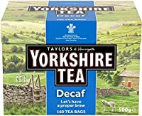 Yorkshire Tea Decaf (ヨークシャー デカフェティー 160袋)- 160 Bags / 500g【海外直送品】【並行輸入品】