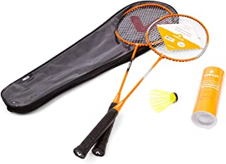 Kit Badminton 2 Raq. 3 Petecas