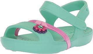 Crocs Lina Sandal Kids, Girls' Sandals, Blue (Mint), J1 UK (32-33 EU)