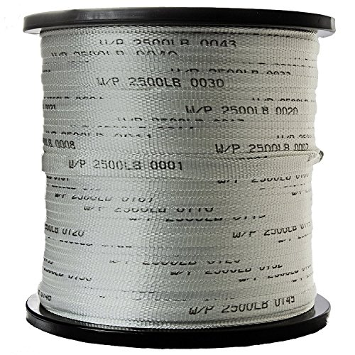 Seconds 3/4' x 2000' 2500 Lb Polyester Pull Tape/Pulling Tape/Mule Webbing - USA Made