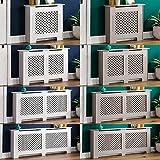 Home Discount - Cubierta para radiador Oxford, Color Blanco, Madera de DM Pintada Tradicional,...