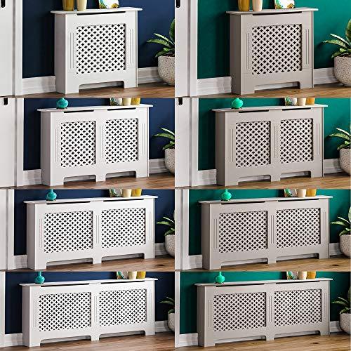 Vida Designs Oxford Radiator Cover White Traditional Painted MDF Cabinet, Medium