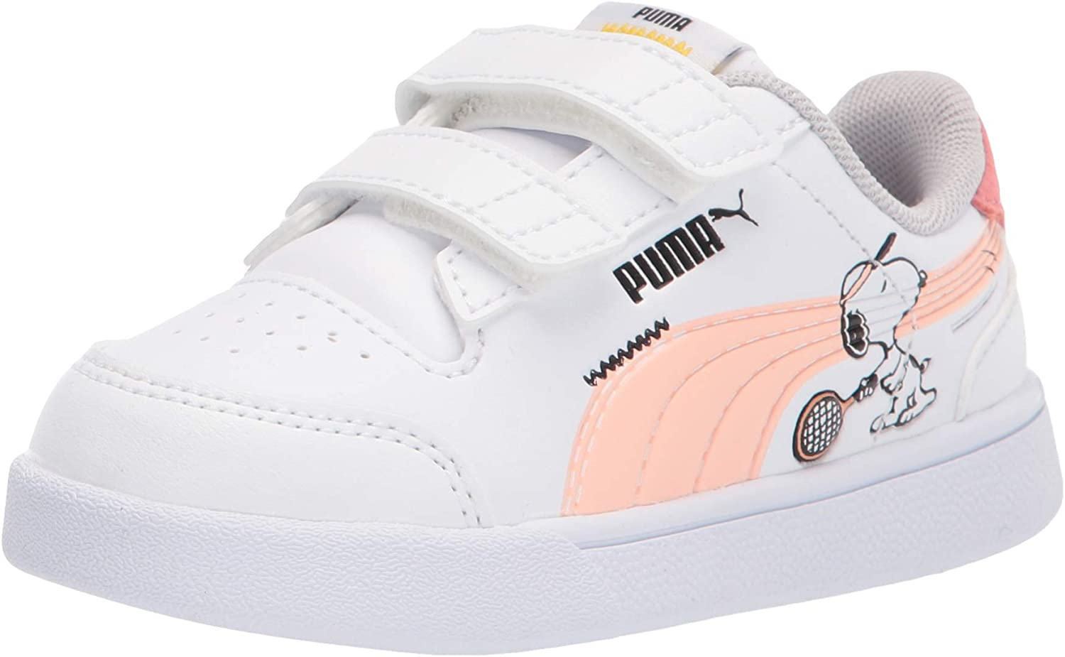 PUMA Unisex-Child Peanuts Shuffle and Sale price Sneaker Hook Loop Courier shipping free