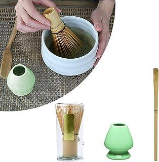 Matcha Making Tool Set, SUNJULY Bambus Teebesen Teeschaufel