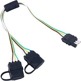 Universal 4 Way Flat Separator Plug & Play Adapter Extension Harness for LED Tailgate Light Bar and Trailer Lights