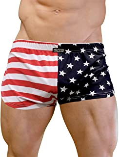 USA Flag Retro Athletic Side Split Short