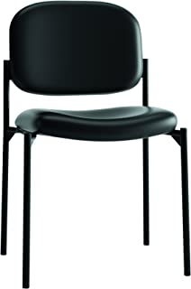 HON Scatter Guest Chair - Leather Stacking Chair Office Furniture, Black (HVL606)