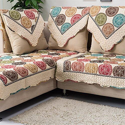 "OstepDecor Cotton Square Decorative Throw Pillow Cover Cushion Case 18"" x 18"" (45 x 45cm)"