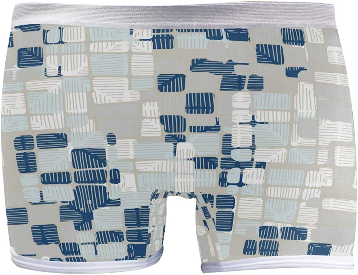 SLHFPX Womens New arrival Underwear Boxer Briefs Blue and Plaid White Patter Max 44% OFF