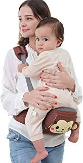 Baby Hip Seat Carrier Baby Toddler Hip Seat Carrier Baby Waist Seat Ergonomic Lightweight Padded Waist Belt with Portable Stool, Adjustable Buckle Strap