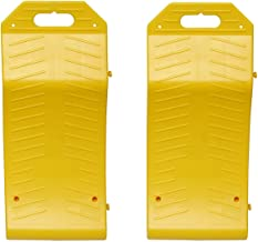 BISupply Tire Saver Ramps – Vehicle Storage Ramp Set Curved Low Profile Ramps Portable Plastic Car Ramps, 2 Pk