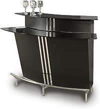 MILAN Globe Black Glass/Stainless Steel bar Table