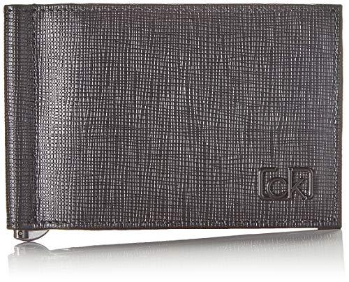 Calvin Klein heren Ck Signature Saf 6cc W/moneyclip portemonnee, zwart (Blackwhite Black), 1x1x1 cm
