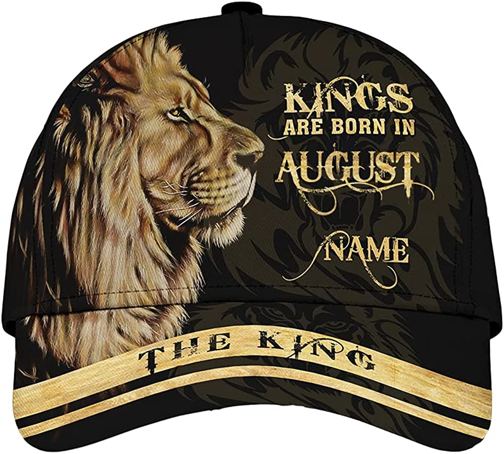 Personalized King are Born in August Custom Name Classic Baseball Cap