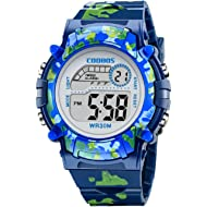 TMROW Sport Watch 7 Colorful LED Lights and Detachable Watchband Kids Watch Sport Camouflage...