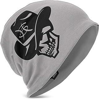 Hdadwy Beanie Hat Heroes del Silencio Skull Knit Hat Gorro de Calavera Fina con puños para niños y niñas Negro