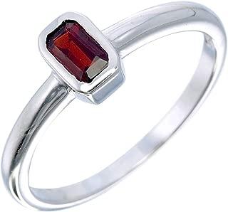 rectangle garnet ring