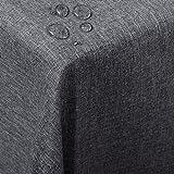 WOLTU TD3044gr Tischdecke Tischtuch Leinendecke Leinen Optik Lotuseffekt Fleckschutz pflegeleicht abwaschbar schmutzabweisend Farbe & Größe wählbar Eckig 130x260 cm Grau