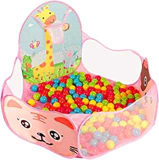 Playpen for Kids Play Area Castle Infant Safety Play Yard Foldable and Portable Toy Ocean ball Indoor and Outdoor