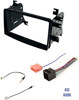 ASC Car Stereo Radio Install Dash Kit, Wire Harness, and Antenna Adapter for installing an Aftermarket Double Din Radio for 2009 - 2010 Kia Optima and 2009 - 2014 Kia Sedona,