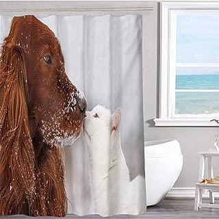 MKOK White Shower Curtain 36