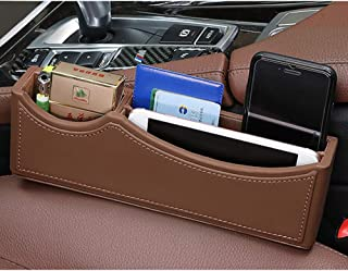 Yijueled Console Side Pocket Car Organizer Leather Car Seat Pocket Gap Filler Car Seat Pocket Car Console Organizer Car Seat Filler Car Seat Catcher