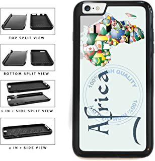 BleuReign(TM) Detailed Africa Map 2-Piece Dual Layer Phone Case Back Cover For Apple iPhone 6 Plus and iPhone 6s Plus (5.5 Inches Screen)