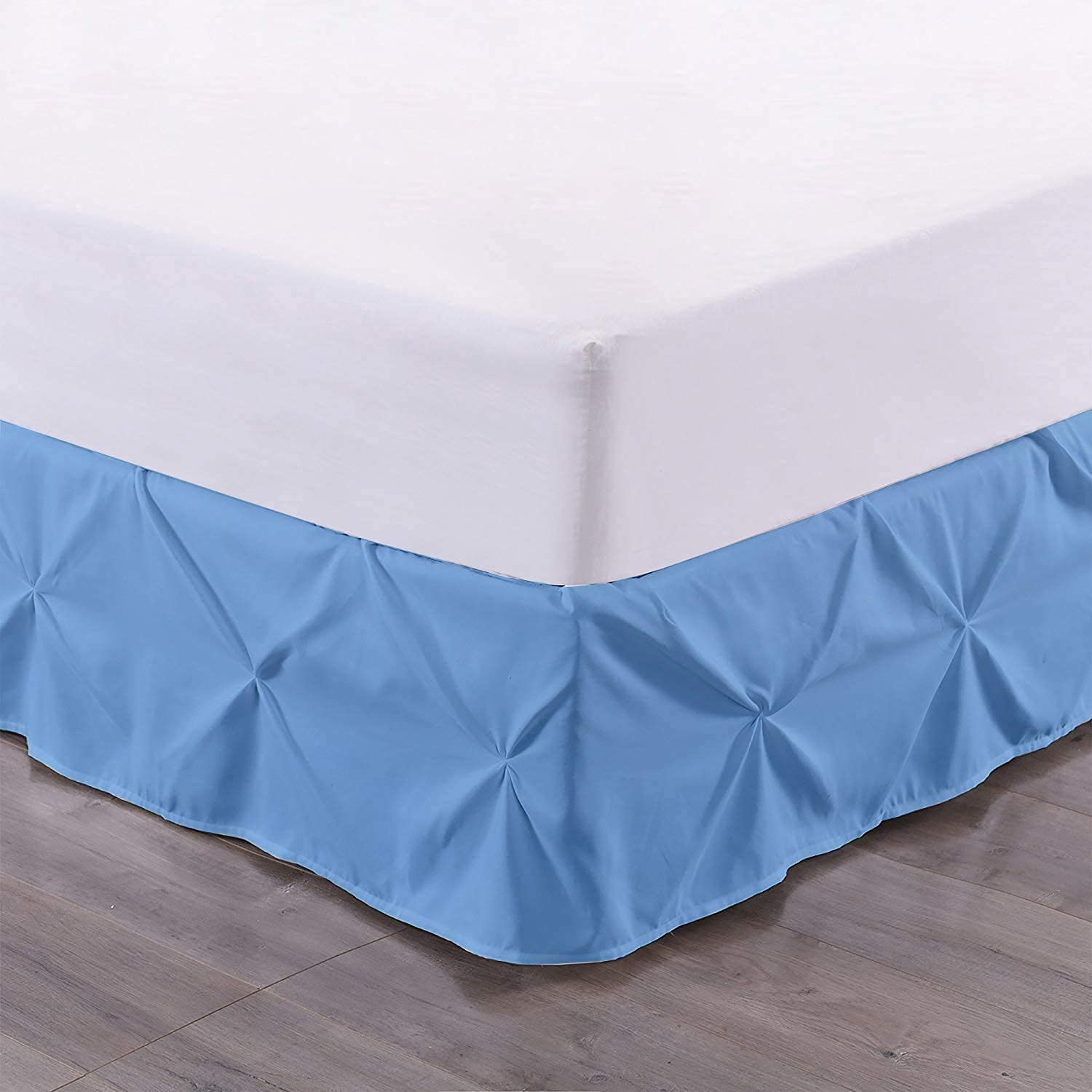 Bed Skirt - 100% Cotton Free shipping on posting reviews 800 B Pinch Thread Cheap super special price Count 1-Piece Pleated