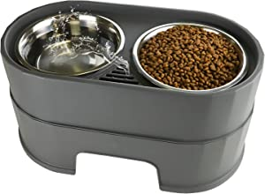 RIZZARI Raised Dog Bowls,Stainless Steel Dog Food Dish and Pet Water Bowls,Elevated Height Adjustable Double Bowl with Stand for Small Medium Dogs and Cats