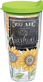 Tervis Sunshine - Vaso con tapa de viaje, diseño de girasoles, Transparente, 24 Oz, 1