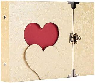 10 Inch Vintage Hollowed Heart Shape Photo Image Album Scrapbook Diary Memory