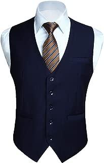 Enlision ベスト メンズ フォーマル スーツ ベスト 光沢 5ボダン 2ポケット スリム Vネック 尾錠付き ビジネス 結婚式 チョッキ 紳士